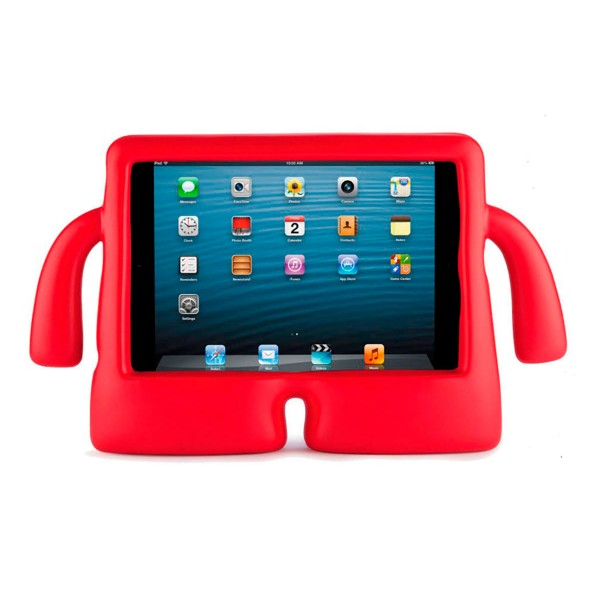 Jc funda antigolpes con forma divertida muñeco rojo tablets de 10'' ideal para niños